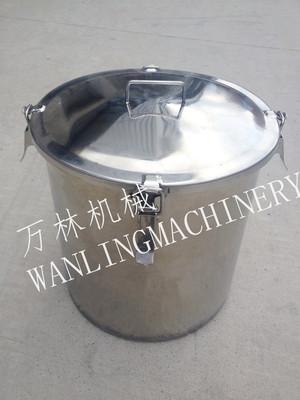 不锈钢带扣密闭性存储桶